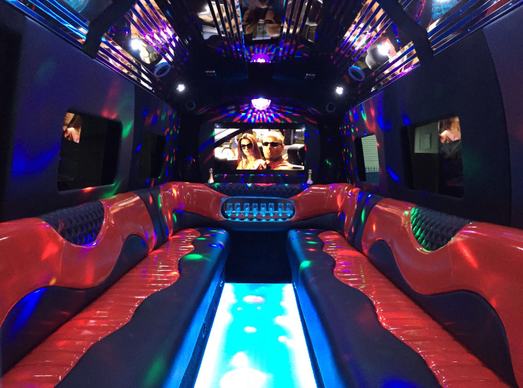 Guildford Party Bus Interior